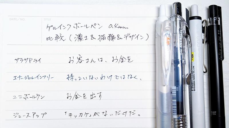 ゲルインクボールペン0.4mm
